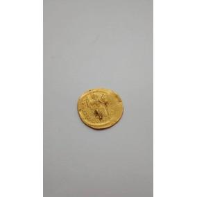 Antigua Moneda De Oro 18k Romana Bizantina Justino I