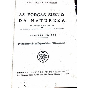 E-book As Forças Subtis Da Natureza - Yogi Rama Prasad -raro
