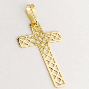 Dourado Joias Crucifixo Vazado Ouro - Joias e Relógios no Mercado ... 2ecf2c95f9