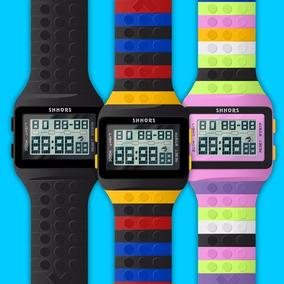 Reloj Lego 15 Colores C/luz Bloques Retro Infantil No Casio