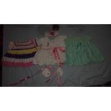 3 Lindos Vestidos De Croche Para Bebes Recém Nascidas