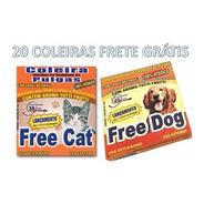 20 Coleira Anti Pulgas Free Cat Dog Filhote Atacado Pet Shop