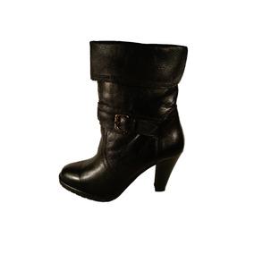 Bota Tacon Hebilla Arrugada Ladystork Cuero Mujer Shoestore