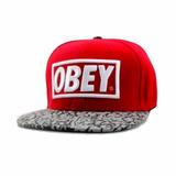 Gorra Obey Roja Con Leopard Unisex Hiphop   Dg Gold®