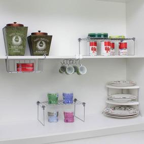 Combo Cozinha - Kit Organizadores Para Cozinha - Metalic