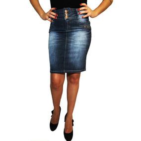 Saia Jeans Secretaria Bx Mix Jeans - Super Promoção