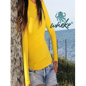 Camiseta Feminina Wheke Proteção Uv Solar Praia Academia Sol