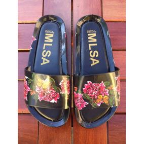 Chinelos Sandálias Melissas Beach Slide Floral Lançamento