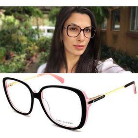 Armação Oculos Grau Feminino Mj494 Quadrado Original Acetato