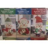 Muñeco De Nieve Navidad 3 Piezas Decoracion Adorno