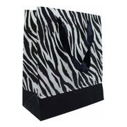 Sacola Premium Animal Print Zebra - 34x28 Cm - 12 Unidades