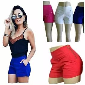 a2a5a5b15 Shorts Cintura Alta Tecido Bengaline - Camisetas e Blusas no Mercado ...