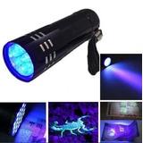 Lanterna Uv 9 Leds Ultra Violeta - Luz Negra Dinheiro Falso