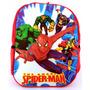 Mochila Infantil Homem Aranha Hulk Thor Capitão América 3d