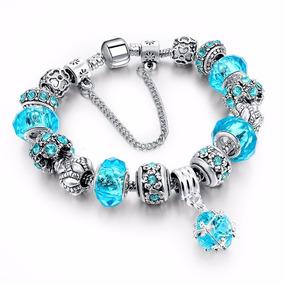 Pulseira Bracelete Murano Berloque Charm Prata 925 Pandora
