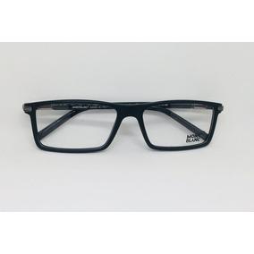 Armação Óculos Grau Mont Blanc Mb149 Grafite Fibra Carbono - Óculos ... b300221cb3