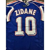 Camiseta Francia 10 Zidane Retro Ho