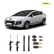 4 Amortecedores + Kits Batentes Do Peugeot 3008 Ano 17/...