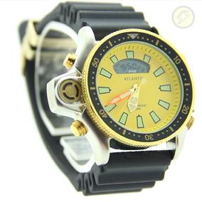 02528978fa6 Relogio Atlantis Aqualand Serie Ouro Caixa Grande - Relógios no ...