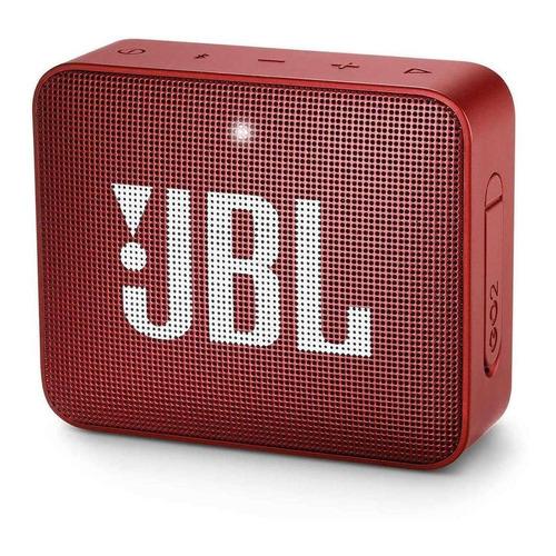 Caixa de som JBL Go 2 portátil com bluetooth ruby red