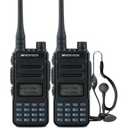 Kit X 2 Handy Radio Walkie Talkie Newvision Uhf Vhf 8w