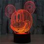 Lámparas De Mickey Mouse 3d Luz De La Noche Escritorio De L
