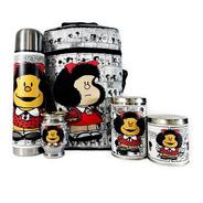 Equipo De Mate Completo Mafalda Regalo Cuero  Set Kit Matero