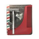 Peine Con Rastrillo Plantilla Diseña Bigote Barba Barbero Lm