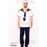 Conjunto Marinheiro Adulto - Fantasia Roupa Festa 36 Ao 48