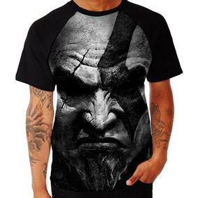 Camisa Camiseta Jogo Game God Of War Kratos Raglan