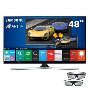 Smart Tv Samsung 48 3d.na Caixa. Utilizada Somente 1 Mês.