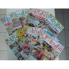 Revista Ponto Cruz Agulha De Ouro Kit Com 8 Exemplares
