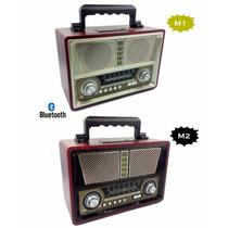 Radio Usb/fm/am Vintage Retrô Usbportátil Bluetooth Recarr