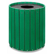 Bote De Basura De Plastico Reciclado Color Verde 32 Galones