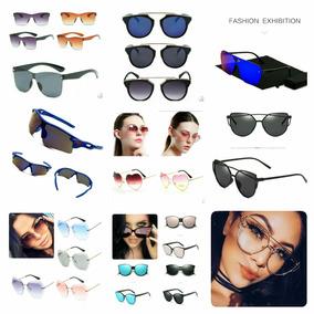Óculos De Sol Feminino Espelhado Atacado 10 Peças + Brinde. 86e015c712