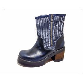 Calzado Y Botas Lola Roca, Botas, Borcegos Azul Ultimo Par