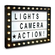 Hollywood Lightbox - Cartelera Luminosa Tipo Cine