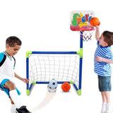 Set Mini Porteria Futbol Soccer Baloncesto Basket Canasta