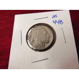 Bb#448 Usa Five Cent Buffalo Indio Americano 1935