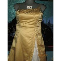 Vestido De Gala Plus Dorado En Talla 2x Extragrande