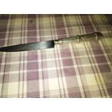 Cuchillo Criollo Inox..mango En Metal Blanco Labrado