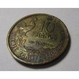Moneda Antigua Francia 10 Francs 1953