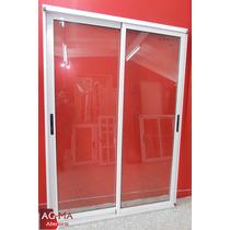 Ventana Balcon Modena Aluminio Vidrio Entero 2 X 2