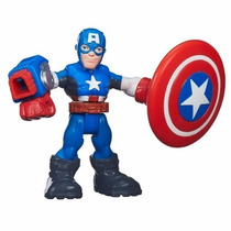 Playskool Super Hero Adventures Capitão America B2044 Hasbro