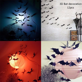 Kit 5 Paquetes Murcielagos Decoracion Halloween Vampiro