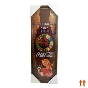Relógio De Madeira Retro Coca-cola - Novo E Original