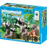 Playmobil 5272 Pandas Na Floresta De Bambu Com Equipe Wwf