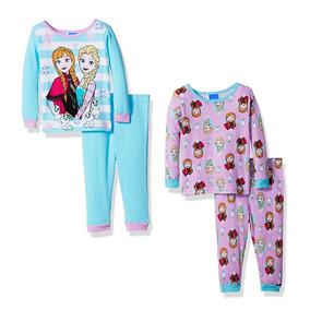 Pijama Frozen Disney Invierno Pantalón Algodón Bebé 24 M