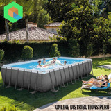 Piscina Armable Intex 732 X 366 X 132 Capacidad 31805 Lt
