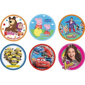 30 Bolsas Golosineras + Stickers Masha Y El Oso Minions Cars